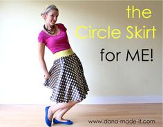 Dyeing Elastic TUTORIAL = Circle Skirt for ME! | MADE