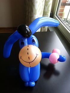 Eeyore, my favorite balloon animal #balloon art #balloon Winnie the Pooh #balloon eeyore #balloon Piglet #balloon sculpture #balloon twist