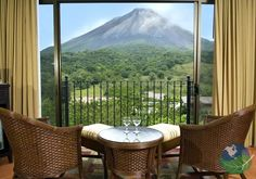 Hotel Arenal Kioro, Costa Rica. Because of its location, the Hotel offers its guests some of the best views of both the National Park and the Arenal Volcano itself. If this wasn't enough, you can also enjoy the private hot springs and the Heliconias Restaurant. You just found the perfect place to stay when visiting Costa Rica!