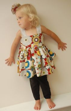 Double Ruffle Knot Top - for Daughters & Dolls