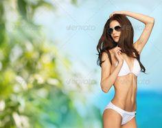 model posing in white bikini ...  Bahamas, Barbados, bali, beach, beautiful, bikini, bio, blue, body, caribbean, coast, eco, female, girl, green, happiness, happy, holidays, maldives, marine, natural, nature, ocean, organic, people, perfect, person, sea, shades, shape, shiny, slim, sporty, spray, summer, summertime, sun, sunglasses, swimsuit, swimwear, tan, tanned, travel, tropics, turquoise, vacation, water, white, woman, young