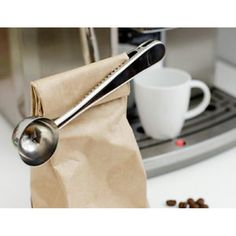 Norpro Coffee Scoop and Bag Clip is a coffee scoop that you cannot misplace! Simply clip it on the coffee bag and seal it tight in the process. Coffee Pods, Coffee Beans, Coffe Mug Cake, Nitro Coffee, Coffee Accessories, Bag Clips, Coffee Branding, Kitchen Tools And Gadgets, Espresso Coffee