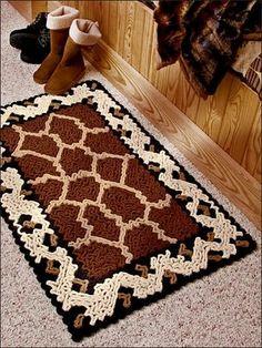 Ravelry: Giraffe and Leopard Print Rug pattern by Susan Lowman Crochet Mat, Crochet Carpet, Hand Crochet, Wiggly Crochet Patterns, Tapis Design, Crochet Home Decor, Crochet Crafts, Diy Carpet, Rug Hooking