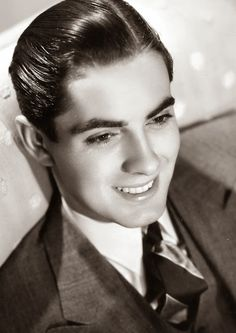 Tyrone Power Classic Hollywood Stars. Vintage Style
