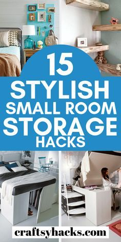 15 Stylish Small Room Storage Hacks Increase storage space at home with these small room organization tips. These small bedroom organization hacks are the very best. Small Bedroom Organization, Small Bedroom Storage, Corner Storage, Small Space Storage, Home Organization, Very Small Bedroom, Organizing Small Bedrooms, Small Room Design Bedroom, Bedroom Designs