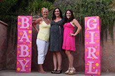 T: PINK, YELLOW & ORANGE BABY SHOWER!