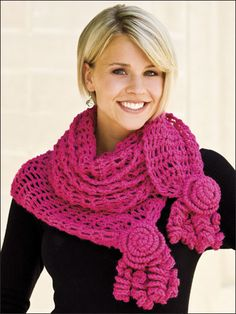 Roses & Lace Scarf free Crochet pattern download