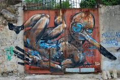 #streetart #Palermo Palermo Italy, Italy Street, Graffiti, Painting, Art, Painting Art, Paintings, Painted Canvas, Graffiti Artwork