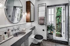 Guest Bathroom, Shower Room, Tiling, Sink, Bathroom Mirror, Apartment, Gatti House, The Strand, London, Interior Design, Home Decor, Interior Decoration, Barlow & Barlow