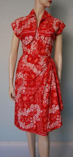 1950s Nani of Hawaii Sarong Dress and Bolero by KittyGirlVintage