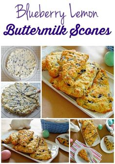 Blueberry Lemon Buttermilk Scones: Moist, tender, and just barely sweet. Scones come together quickly and are a perfect addition to breakfast or brunch.
