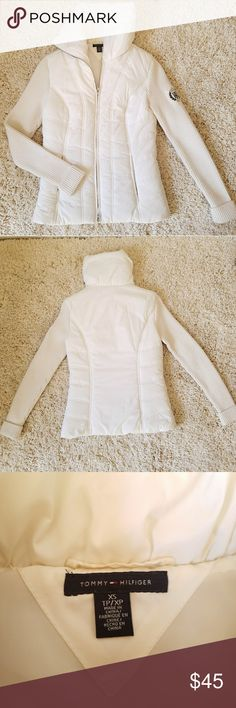 Tommy Hilfiger White Thermal Jacket XSmall  Great Quality  New Condition Tommy Hilfiger Jackets & Coats
