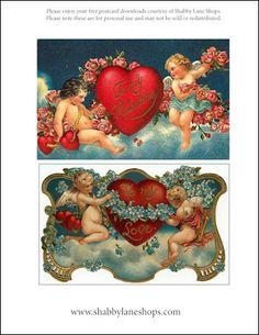 FREE printable vintage postcards!
