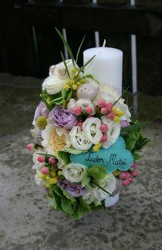 Flowers of Soul: Lumanari de botez Candels, Wedding Flowers, Events, Table Decorations, Cake, Happenings, Pie Cake, Pie, Cakes
