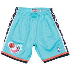 1996 NBA All Star East Mitchell   Ness Throwback Swingman Teal (Blue)  Shorts Men s c840025a326e