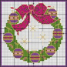 Start stitching for Christmas! | Lesley Teare Thoughts on Design  new free cross stitch wreath