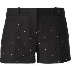 Michael Michael Kors Dot Appliqué Shorts ($128) ❤ liked on Polyvore