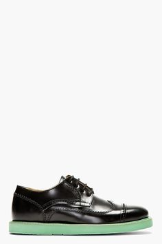 KENZO Black Leather Clevin Austerity Brogues