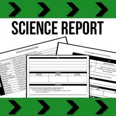 Scientific Method Student Report Booklet  Scientific Reports