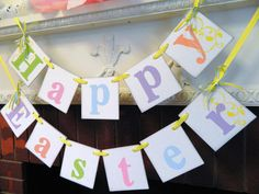 EASTER Decorations -Spring Banners - Happy Easter Banner -Easter Garlands - Holiday garland  Ask a Question $23.00 USD. USA