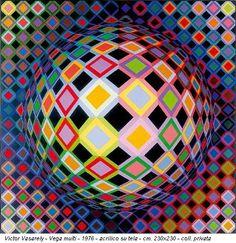 El rey del arte optico. Victor Vasarely.                                                                                                                                                                                 Más