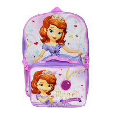 "Disney Little Princess Sofia the First Fairy 16"" Backpack School Bag with Detachable Lunch Kit, $14.99 (http://www.znvora.com/disney-little-princess-sofia-the-first-fairy-16-backpack-school-bag-with-detachable-lunch-kit/)"