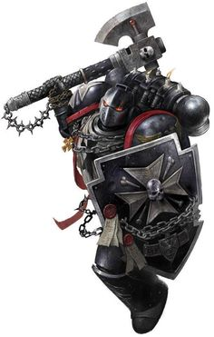 Black Templar, Due to the fact that the Black Templars have such a hate and distrust for the Warp and anything within it or derived from it, Black Templars will not allow Librarians or any beings with psychic powers to fight amongst their ranks or in an alliance with them, except for the Grey Knights. Every Black Templar has a deep prejudice against any type of psyker, which can lead to trouble between the Chapter and those Imperial Adepta that often use Sanctioned Psykers.