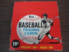 1967 Topps unopened cello pack box courtesy of Baseball Card Exchange.