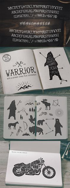The talented Ian Barnard of Vintage Design Co is back with more donations of awesome resources for Access All Areas members. His Warrior font is a hand drawn typeface inspired by the love of vintage, the outdoors and a time when everything was made by hand. Alongside its Regular format, it comes with an alternative …