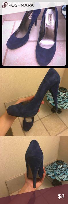 Blue suede heels by Steve Madden Adorable blue suede heels by Steve Madden. Gently worn. Steve Madden Shoes Heels