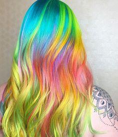 #neonhair #kenraneons #hair #haircolor #colorfulhair