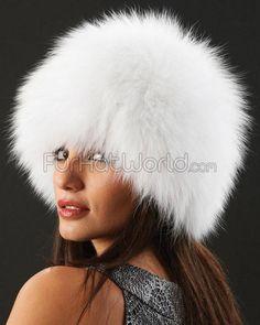 Eclipse Knit Fox Fur Hat in White f78ead1122c3