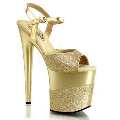 """Pleaser SHOES & BOOTS : Platforms (Exotic Dancing) : 8"""" Heel"""