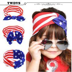 $0.99 (Buy here: https://alitems.com/g/1e8d114494ebda23ff8b16525dc3e8/?i=5&ulp=https%3A%2F%2Fwww.aliexpress.com%2Fitem%2F1-pcs-American-Baby-New-Cut-stars-stripes-flag-headband-Bow-National-Day-girls-baby-hair%2F32667773704.html ) TWDVS Headwear American  New Cut stars stripes flag headband Bow National Day Kids  Hair Accessories Hair Elasticity KT047 for just $0.99