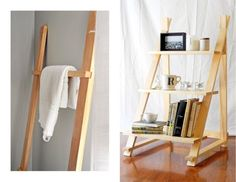 Wood Clothes Rack and Three Level Wood Shelf Set Rack, Display Shelf, Shelf, Shelving, Storage Wood Display, Display Shelves, Storage Shelves, Shelving, Shelf, Storage Ideas, Towel Organization, Home Remodeling Diy, Mattress Springs