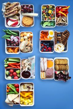 7 School Lunch Box Ideas Kids Can Pack Themselves Packing lunches for a week doesn't have to be hard! Schools differ on what's approved and what's not (you might want to check about peanut butter) bu is part of Lunch meal prep - Lunch Snacks, Healthy Lunches For Kids, Lunch Box Recipes, Clean Eating Snacks, Kids Meals, Healthy Snacks, Healthy Recipes, Snacks Kids, Work Lunches