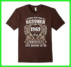 Mens October 1969 - 48th Birthday T-shirt Medium Brown - Birthday shirts (*Amazon Partner-Link)