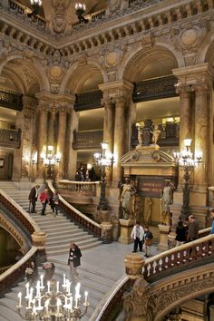 The main staircase in the Paris Opera House