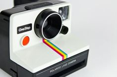 Polaroid cameras! My dad bought me one just like this for my birthday one year:)