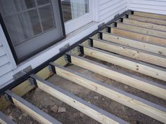Deck structure with Imus Seal joist flashing tape on ledger and Imus Cap on joists Deck Plans, Pergola Plans, Pergola Ideas, Porch Ideas, How To Waterproof Wood, Deck Construction, Diy Deck, Decks And Porches, Fence Design