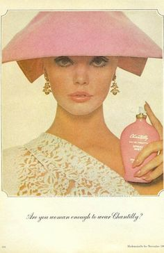 I know the advertisement is for perfume but I seem unable to take my eyes off the hat... 0.o..