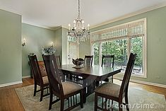 Dining Room With Green Walls Royalty Free Stock Image - Image ...