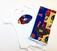 House Divided Football Onesie & Burp Cloth FSU by SweetSeraphina  A must have for us!!!!
