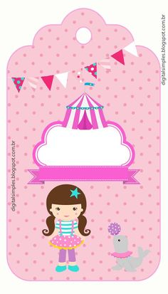 Kit de Artes digitais gratuito para imprimir, tema circo para as meninas. Para deixar a sua festa de aniversário mais alegre. Circus Theme, Circus Party, Horse Party Decorations, Carousel Horses, Baby Party, Candy Colors, Diy And Crafts, Hello Kitty, Scrap