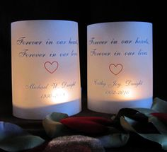 Petite Illuminated Memorial Candle by scrappinginnovations on Etsy, $5.00