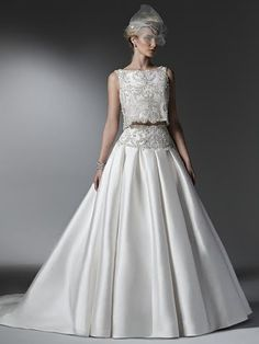 Amazing 2-piece wedding dress! #couture#sottero&midgley