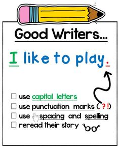 Mrs. Winter's Bliss: Writing Picture Prompts - printable anchor chart