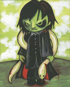 Snape's Revenge original painting by KiWiCuties on Etsy, $25.00