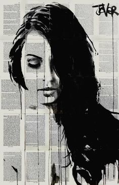"Saatchi Art Artist Loui Jover; Drawing, ""falls..... ((SOLD))"" #art"