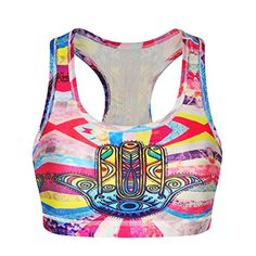 LoveLiness Women Colorful Hand Print Sporty Athletic Crop...
